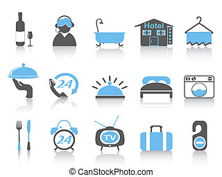 simple color hotel icons