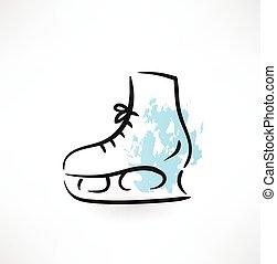 skates grunge icon