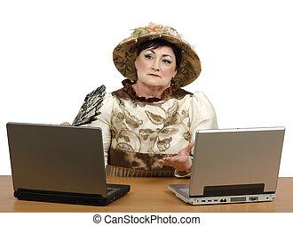 Skillful storyteller teleworking