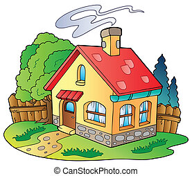 Small family house - vector illustration.