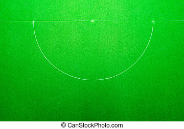 Snooker table, Top view