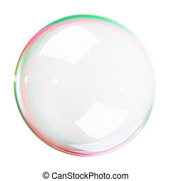 Soap Bubble isolated on white