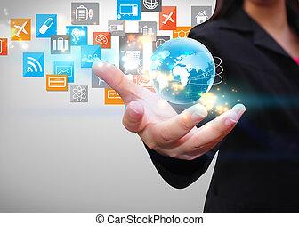 Social media, social network concept