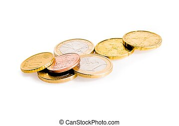 some euro coins