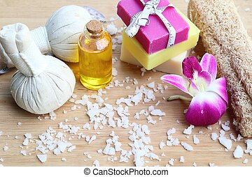 spa soap with essential oil