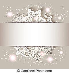 Sparkling Christmas Star Snowflake Greeting Card