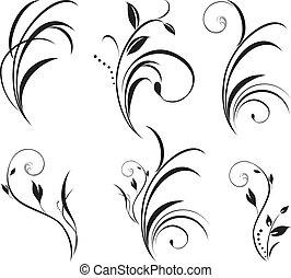 Sprigs. Floral elements for decor