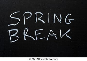 Spring Break On Blackboard
