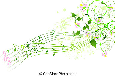 Abstract spring song background