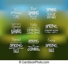 Spring Typographic Design Set