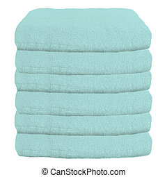 Stack of plush hotel towels