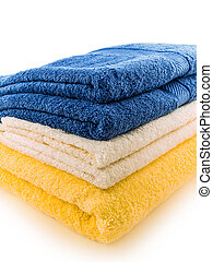 stack of plush towels