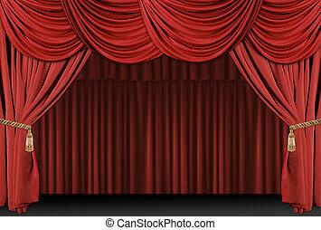 Stage Theatre Drape Background