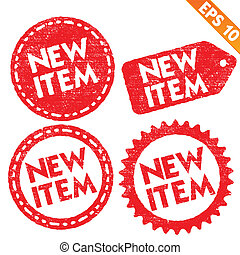Stamp sticker new item tag collection - Vector illustration - EPS10