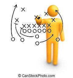 Stick Figure Coach American football Strategy