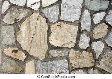Stone wall exterior, background with good texture.