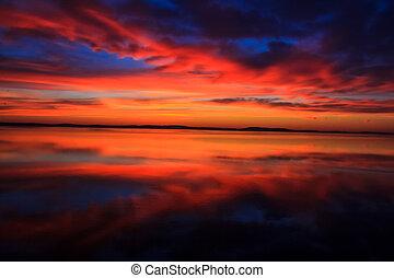 Stunningly colorful sunrise
