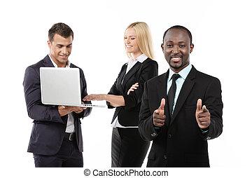 Successful business team.