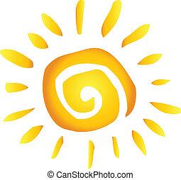 Summer Hot Abstract Sun