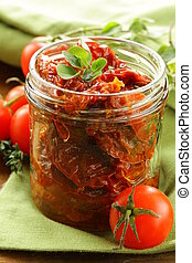 sun-dried tomatoes with herbs