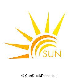 Sun symbol. Abstract vector illustration