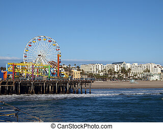 Sun, sea, sand, and fun in Santa Monica California.