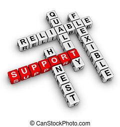 support crossword puzzle