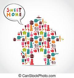 sweet home card