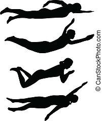 swimming styles - vector