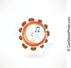 tambourine grunge icon