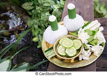 Thai traditional body care set and herb balls 4