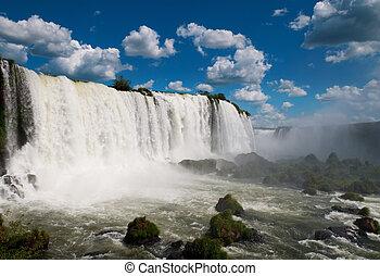 The Iguazu waterfalls. Argentina, Brazil, South America