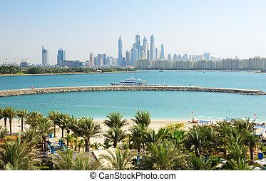 The modern luxury hotel on Palm Jumeirah man-made island, Dubai, UAE
