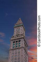 Boston Custom House at Sunset