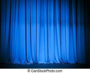 theatre blue curtain