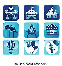 Theme park icons