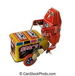 three wheeler robot toy
