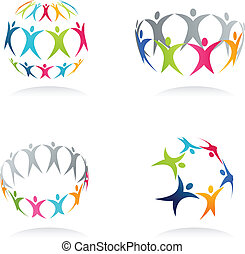 Together - conceptual human icons