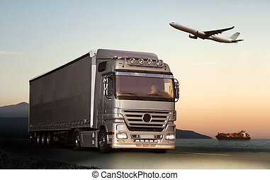 Transportation by truck, ship or plane