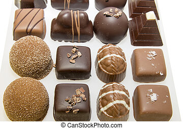 Tray of Dark and Milk Gourment Chocolate Assortment