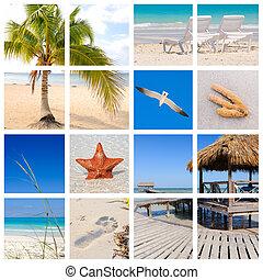 Tropical beach collage