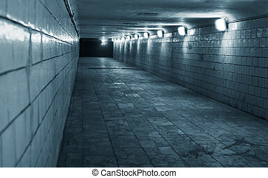 Night tunnels to move people in a urban city