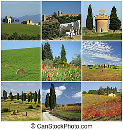 tuscan scenery collage
