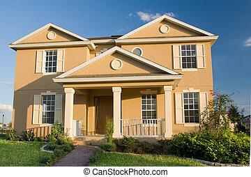 Two-Story Stucco Home