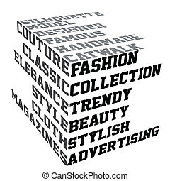 Typography with fashion terms