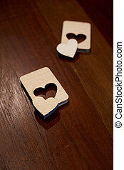 Valentine Jigsaw wooden hearts