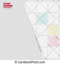 Vector Abstract background. Squares white