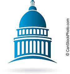Vector Capitol building Logo