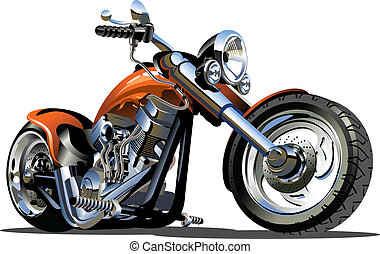 Vector Cartoon Motorbike. Available EPS-8 vector format separated by groups and layers for easy edit