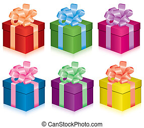 vector colorful gift boxes for any life event